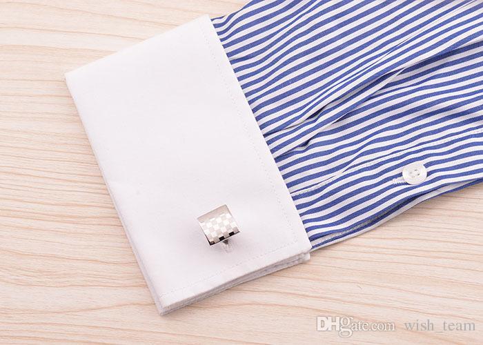 2016 мода дизайн мужчины рубашка запонки французский запонки бизнес подарок лазерная запонка fasther's день подарок запонки W145