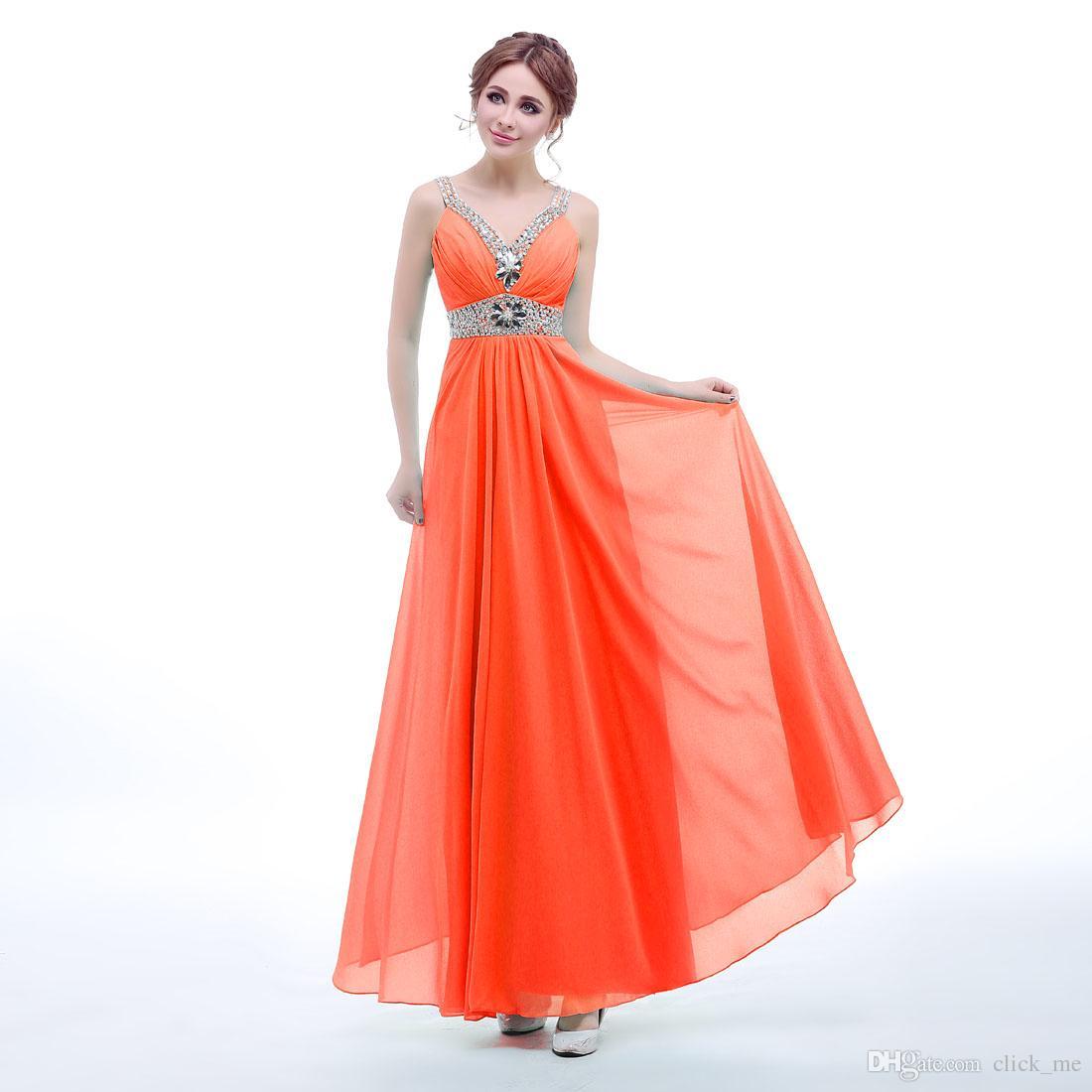 リム画像の花嫁介添人ドレス安いVネックビーズクリスタルシフォンブライドメイドドレス50サッシローバック包帯フォーマルガウン
