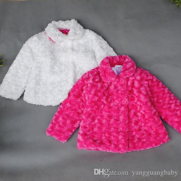New Retail Children'S Woolen Coat 2015 Winter Kids Girl Outwear  MY97