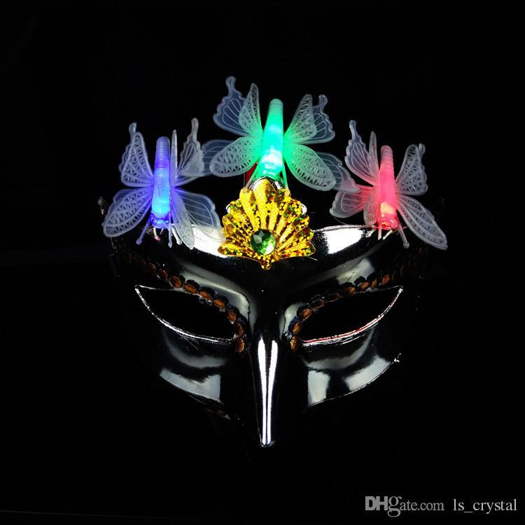 Color Shiny Beauty Sex Mask Half Face EVA Masquerade Party Princess Mask Halloween Cosplay Performance Props Festive Supplies SD443