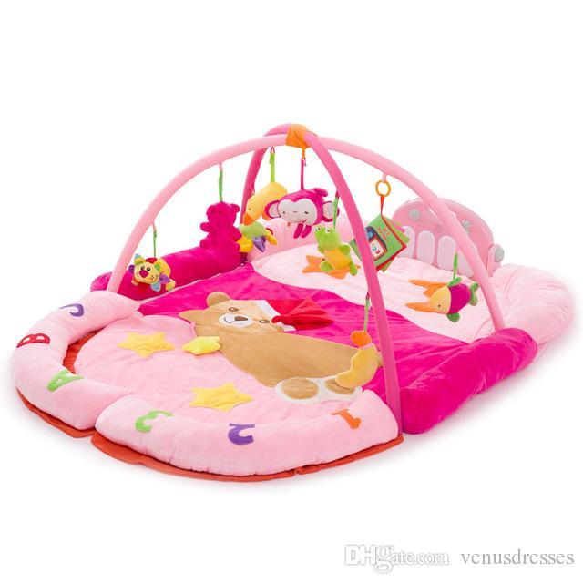 Fun Bear Piano Fitness Rack With Musical Rattle Newborn Baby ...