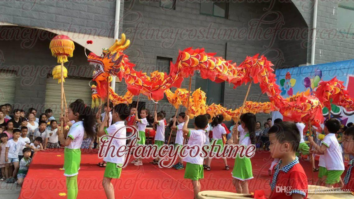 d 79 m size 6 8 kid red silk chinese dragon dance folk festival celebration costume group halloween themes online halloween costumes from phenixshow