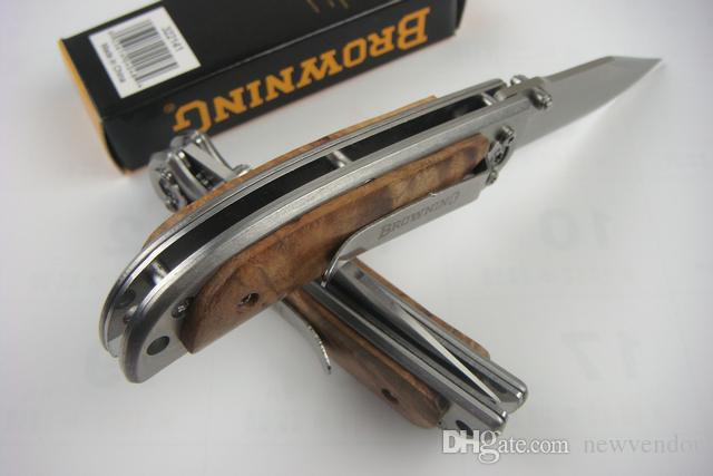 navajas de calidad superior tamaño pequeño 338 Cuchillo de bolsillo plegable de campaña al aire libre de supervivencia senderismo bolsillo cuchillo plegable del EDC con Box