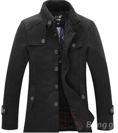 Winter Mens Warm Fleece Jacket Coat Wool Jacket Plus Size S Xxl ...