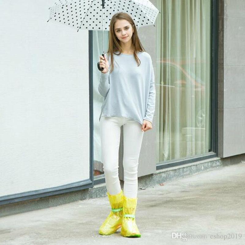 Portable Outdoor Travel Slip Rain Shoe Covers Waterproof Rain Boots Household Merchandises Rain Gear Raincoats Accessories
