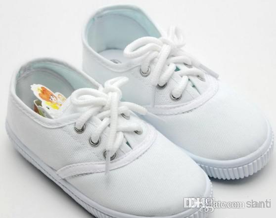 Kids Canvas Shoes White Cloth Students Shoes Pure White1 4 Years
