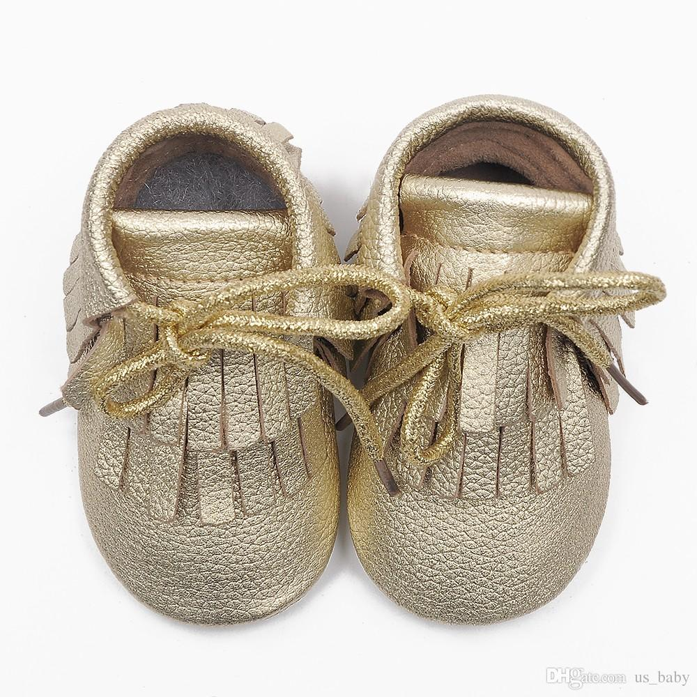 free Fedex UPS ship baby cow leather moccasins tassels lace booties infant girl boy lace leather shoes prewalker booties 54styles
