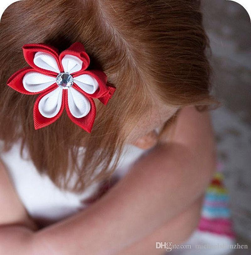 36 Renk Kız çiçek ilmek firkete 2015 yeni güzel prenses kız Şeker renk firkete çocuk Saç Aksesuarları B001