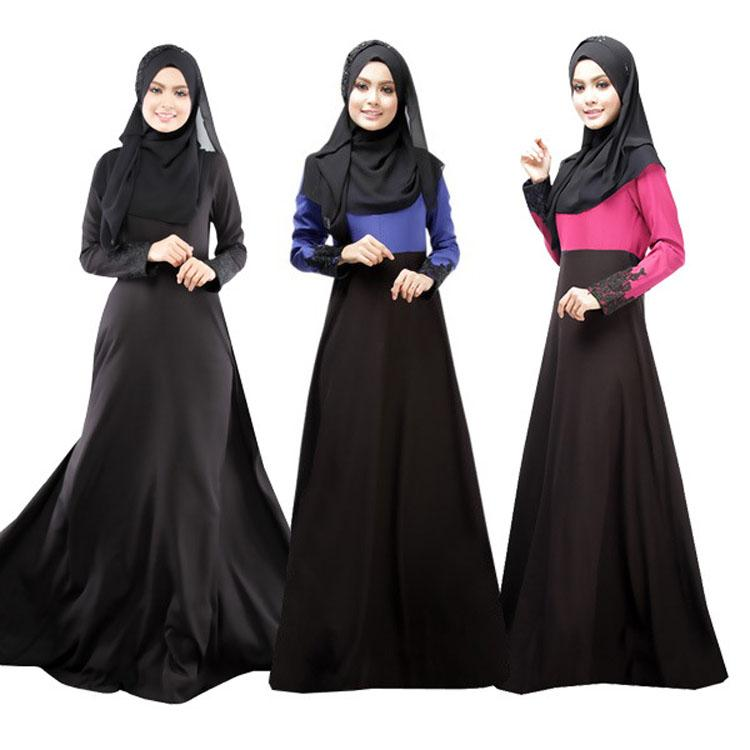 d6e6b29160db 2019 Hot Sale Muslim Dress Abaya Turkish Women Clothing Islamic Abaya  Jilbab Musulmane Vestidos Longos Hijab Clothing Dubai Kaftan Longo Black  From ...