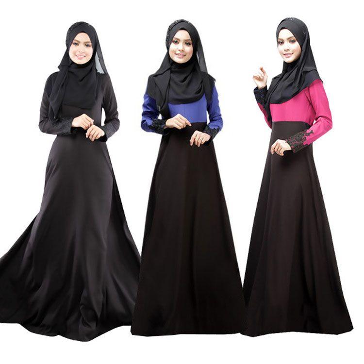 164656fbe Compre Venta Caliente Vestido Musulmán Abaya Ropa Turca Mujer Islámica Abaya  Jilbab Musulmane Vestidos Longos Hijab Ropa Dubai Kaftan Longo Negro A   21.11 ...