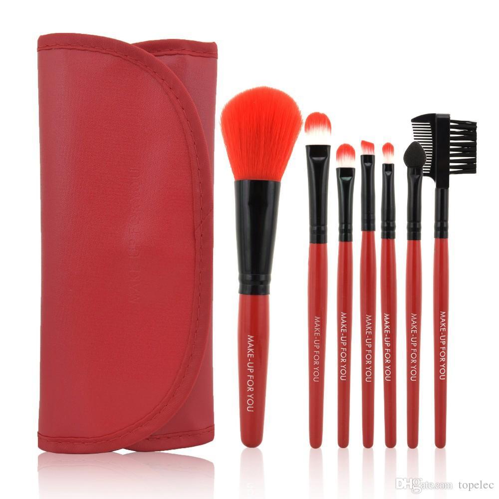 1 세트 뜨거운 판매 다채로운 전문 소프트 화장품 메이크업 브러쉬 세트 블러쉬 브러쉬 + 파우치 가방 케이스 무료 배송 DHL 6818