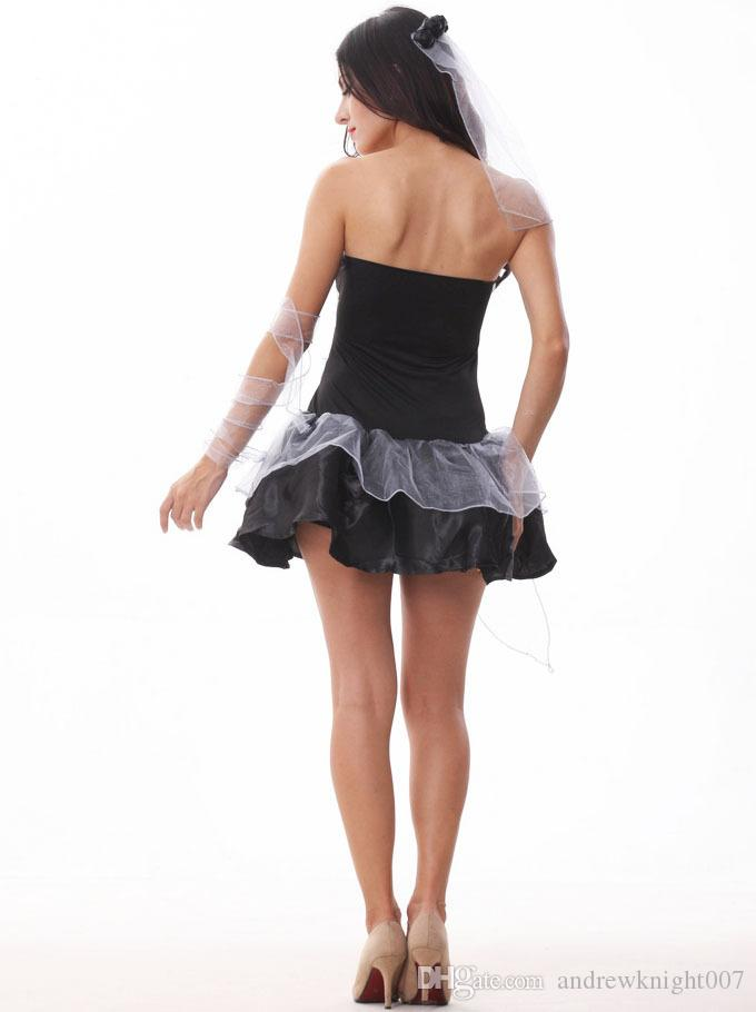 Женщины Хэллоуин косплей вампир костюмы зомби декаданс темный призрак свадебный стайлинг ночной клуб Принцесса Рождество платье одежда DK7802CP