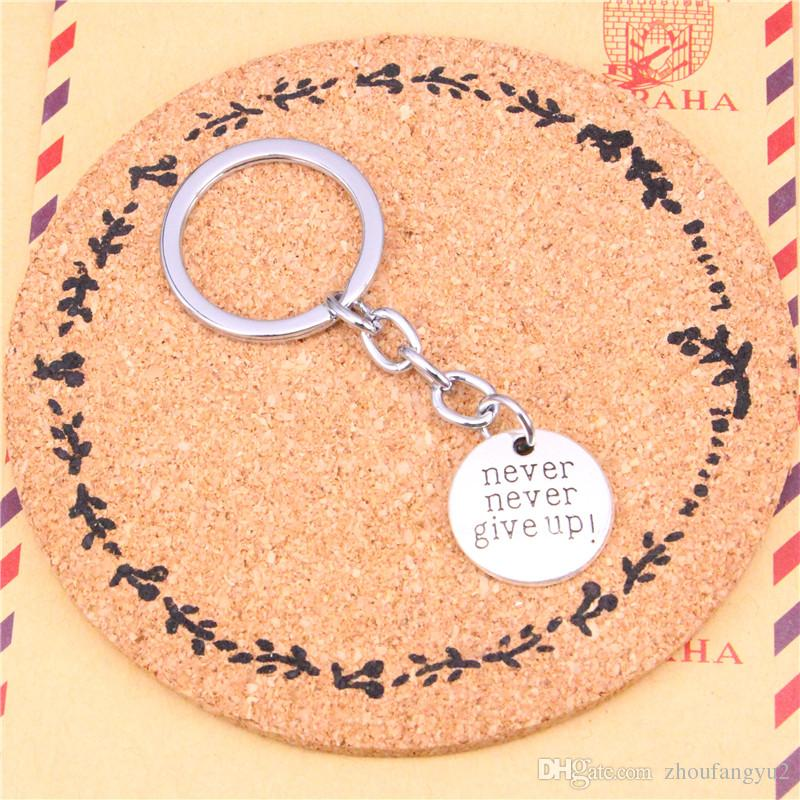 2018 keychain plates never never give up pendants diy men jewelry 2018 keychain plates never never give up pendants diy men jewelry car key chain ring holder souvenir for gift from zhoufangyu2 086 dhgate aloadofball Images
