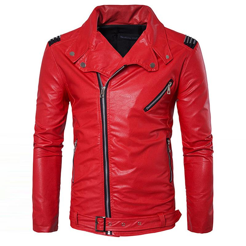 9b88522bd 2019 Wholesale Manvelous Men Faux Leather Jacket Fashion Casual Long Sleeve  Lapel Solid Thick Men Coat Black Red Color Slim Suede Men Clothing From  Bida ...