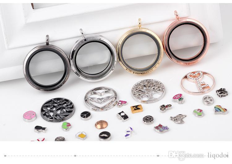 Sevgililer Hediye manyetik yüzen çekicilik madalyon DIY Takı şeffaf cam Çerçeve Kutusu yüzer charm lockets kolye Takı Kolye
