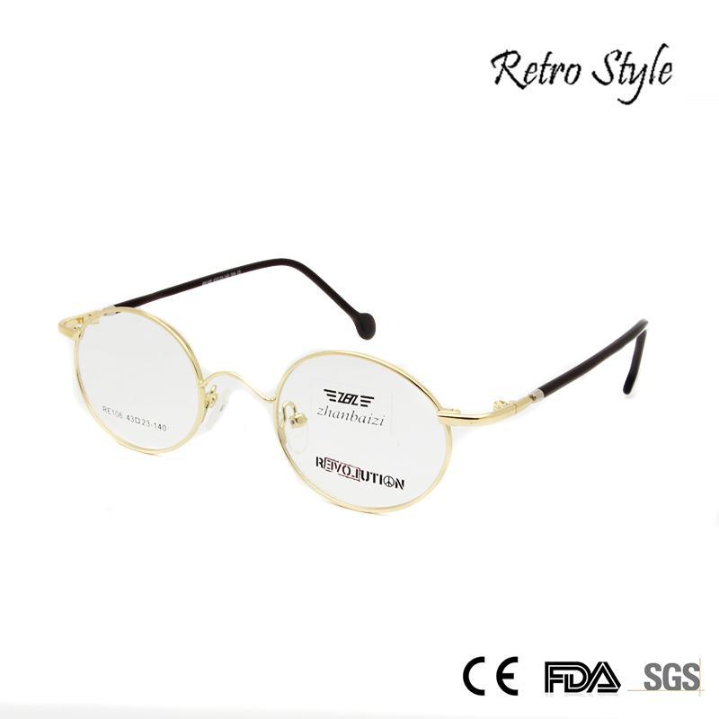 7a2379e3a1 Wholesale- ZBZ New Vintage Glasses Frame Men Women Round Metal Frame ...