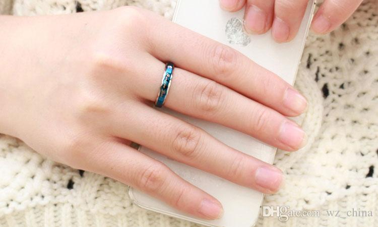 Stainless Steel Couple Rings OPK Fashion Korean Jewelry Male and Female Senior Couple Titanium Engagement Rings Anillos De Oro 316L Jewelry
