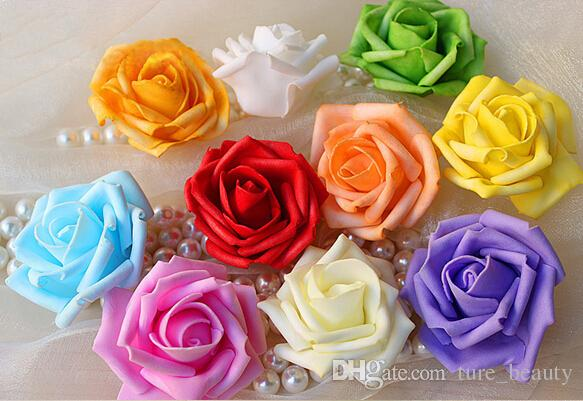 18%OFF Hot Sale Artificial Foam Roses For Home And Wedding Decoration Flower Heads Kissing Balls For Weddings Multi Color 7 Cm Diameter