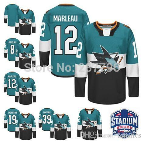 San Jose Sharks Hockey  12 Patrick Marleau Stadium Series Jersey ... 4015b22c3