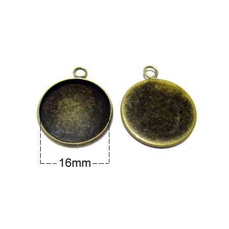 Beadsnice kolye tepsileri bankası pirinç yuvarlak boş çerçeve taban cameo montajları onun için el yapımı kolye hediye
