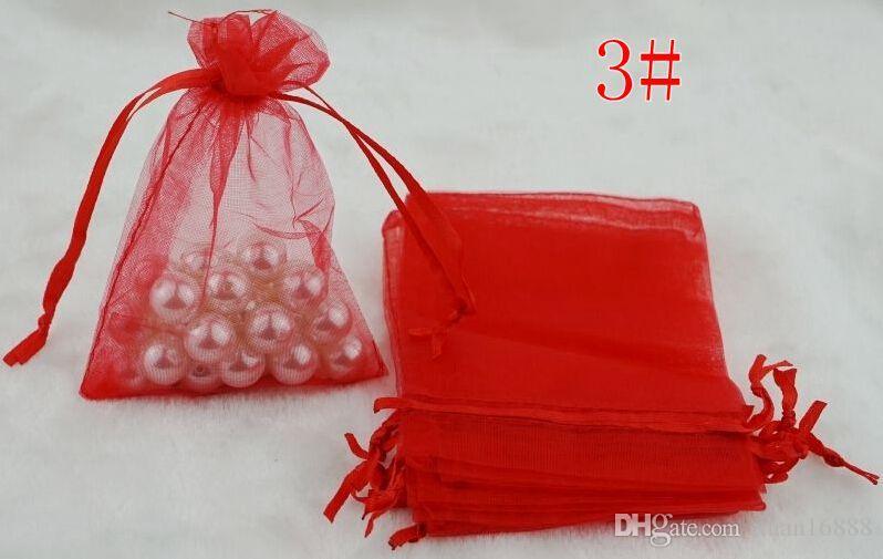 Горячее продавать! Новый подарок партии венчания партии Organza подарок подарка конфеты 7x9cm 15