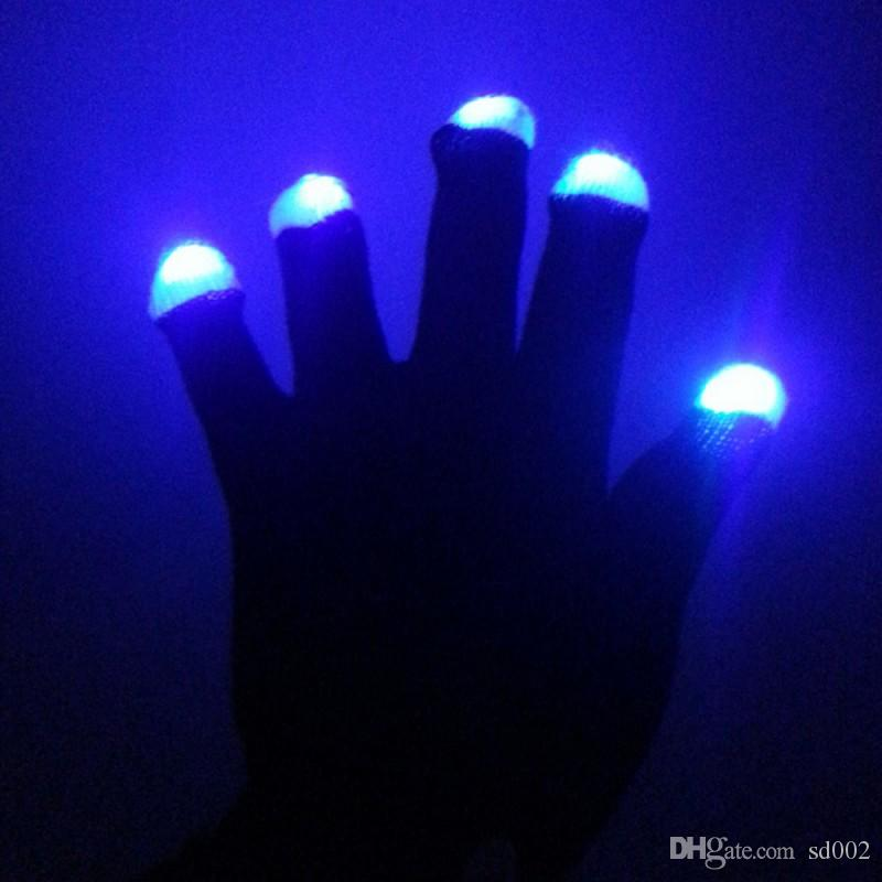 Luminous Nylon Gloves Good Flexibility LED Light Up Glove For Dance Party Gala Show Supplies 7 9hg B R