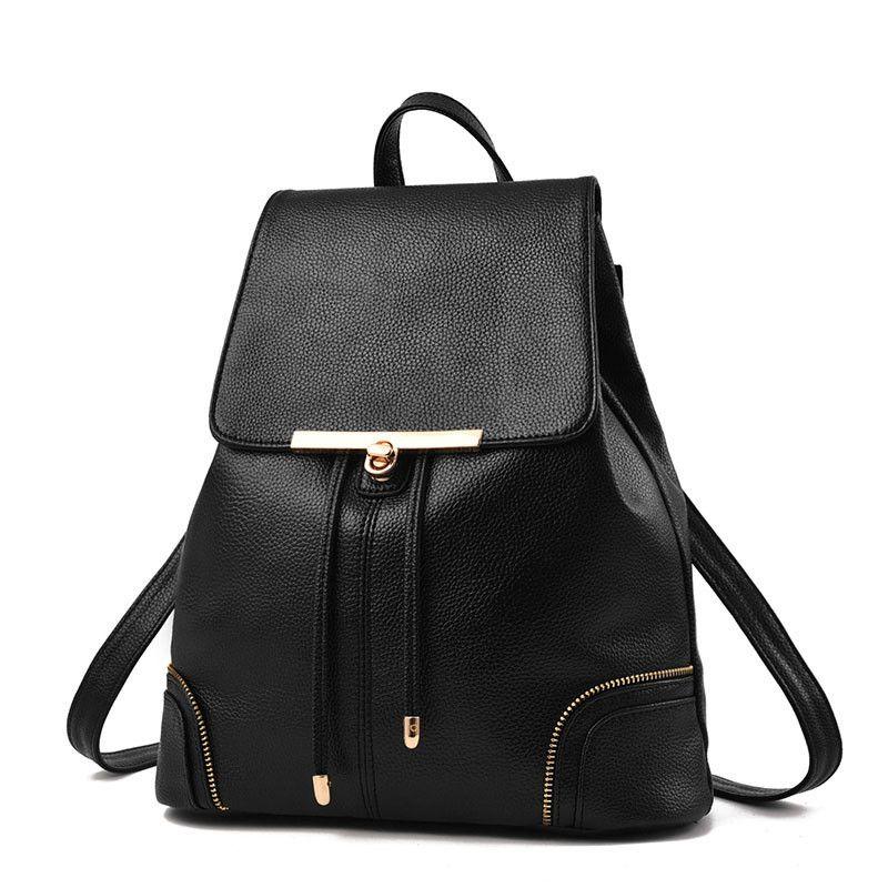 10a9d654dc20 Fashion Designer PU Leather Women Backpack Drawstring School Bags For  Teenagers Girls Female Travel BackPacks Burgundy Hiking Backpack Swiss Gear  Backpack ...
