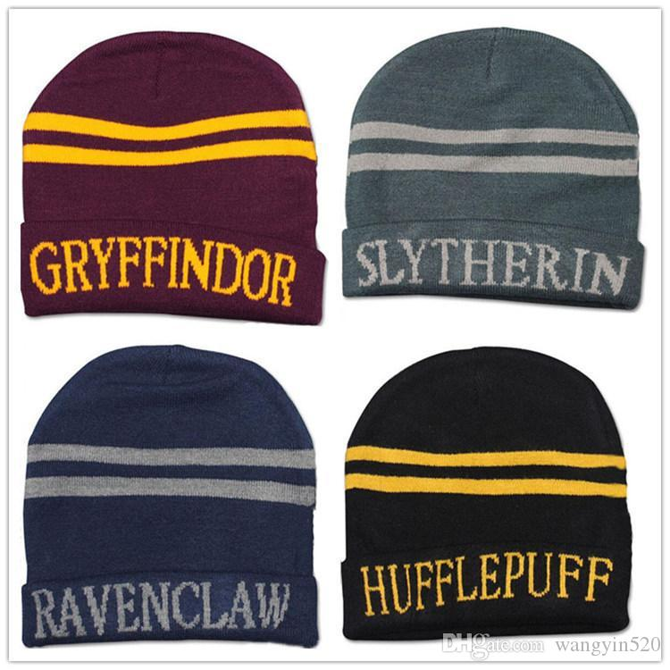 843b0550db9cd Harry Potter Hat School Unisex Knited Hats Cosplay Costume Warm ...