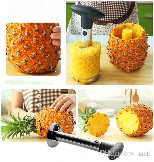 Hot Stainless Steel Pineapple Peeler Cutter Slicer Corer Peel Core Tools Fruit Vegetable Knife Gadget Kitchen Accessories Spiralizer