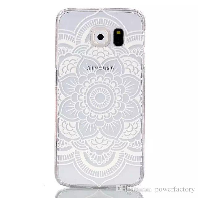Diseño de la flor dura trasera cubierta de la caja del teléfono para Samsung Galaxy S6 S6 borde A3 A5 J1 S5 S4 S3 mini caja de Alpha G850