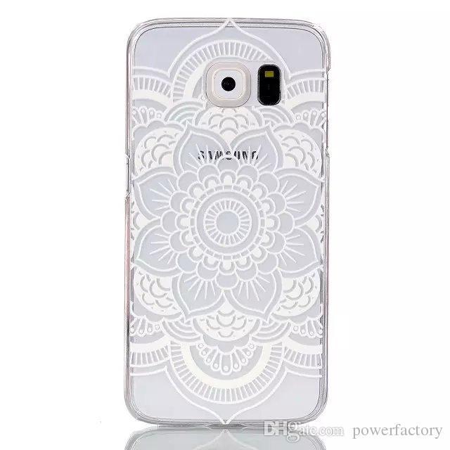 Projeto da flor dura de volta caso do telefone capa para samsung galaxy s6 s6 borda A3 A5 J1 S5 S4 S3 mini caso Alfa G850