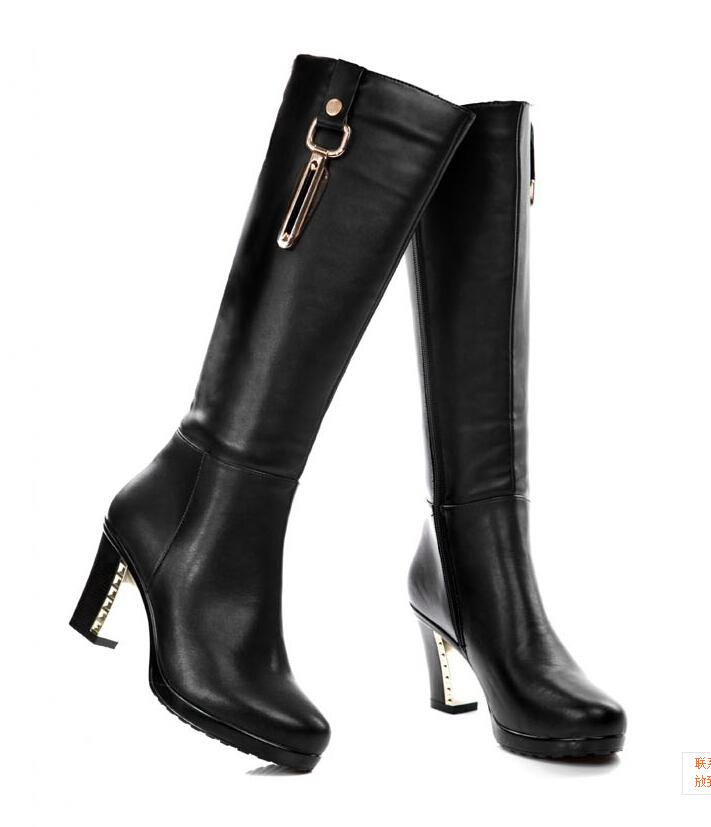 2014 New Winter Women Boots Authentic Leather Boots European And ...