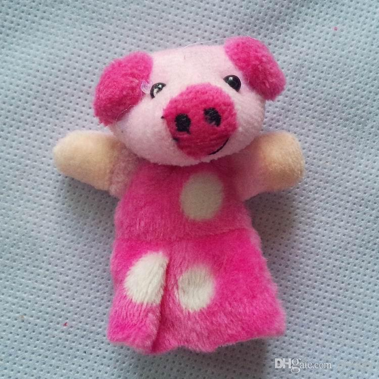 World Fairy Tale-Plush Puppets Three Little Pigs Toys For Children/kids/Students Educational Talking Props