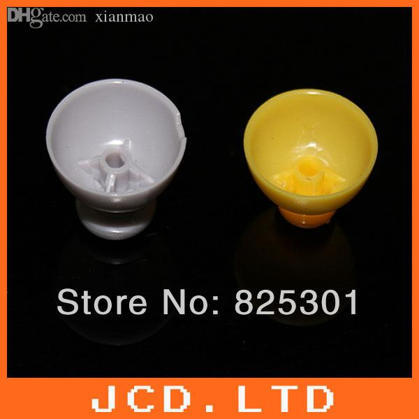 Wholesale-For GameCube Joystick Caps 1 Left [Grey] and 1 Right [Yellow]  Replacement Parts
