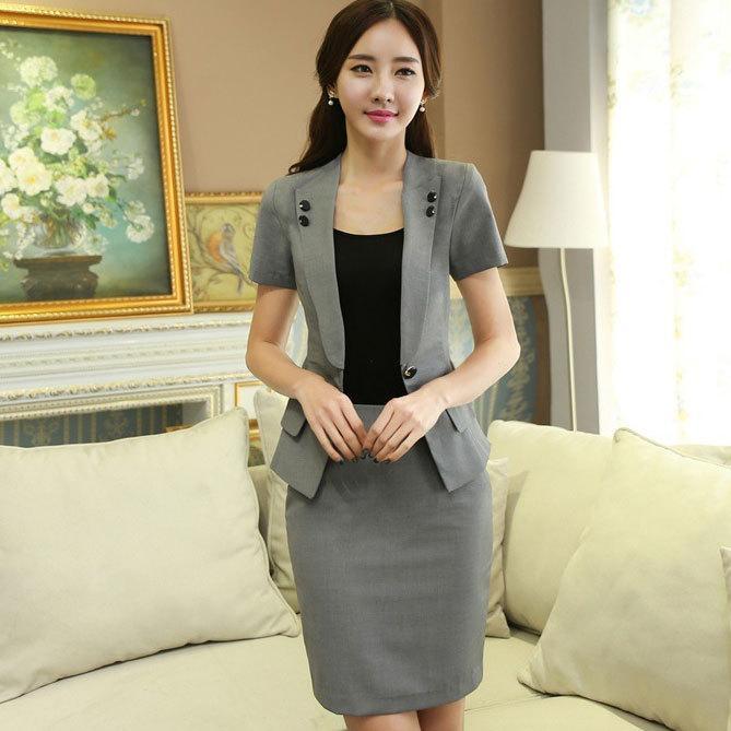 7c06a2410de Summer Career Suits New 2015 Professional Business Formal Office Uniform  Design for Ladies Skirt Suits for Work Plus Size Xxxl Career Suits Skirt  Suits ...