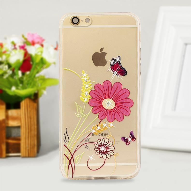 High quality bling rhinestone diamond cell phone case for iphone6 6s 6plus cover bling rhinestone diamond dhl shipping