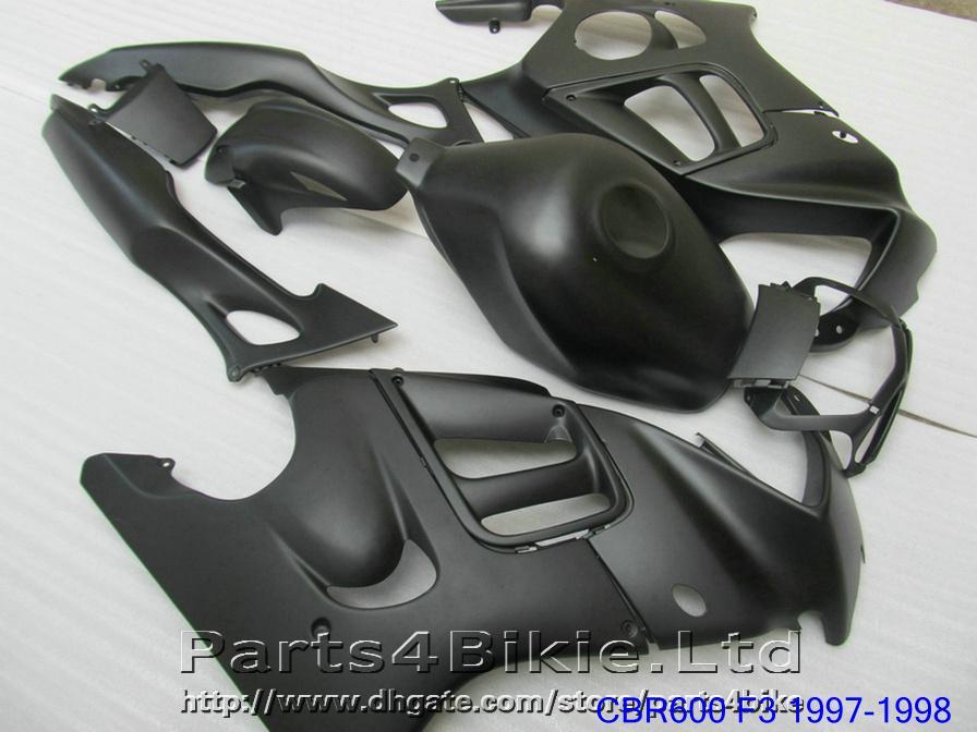 Kit de carénage moto noir mat pour Honda CBR 600 F3 CBR600F3 1997 1998 Pièces de carénage haute qualité CBR600 F3 95 96 DKA6
