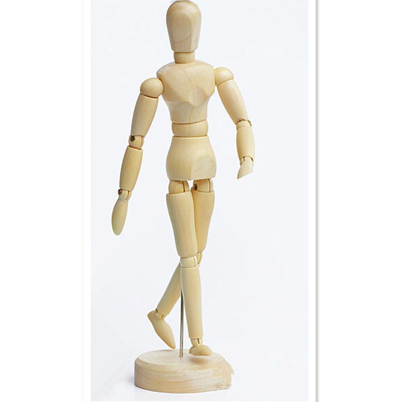 New Wooden Artist Manikin Jointed Mannequin Hand Blockhead Puppet ...