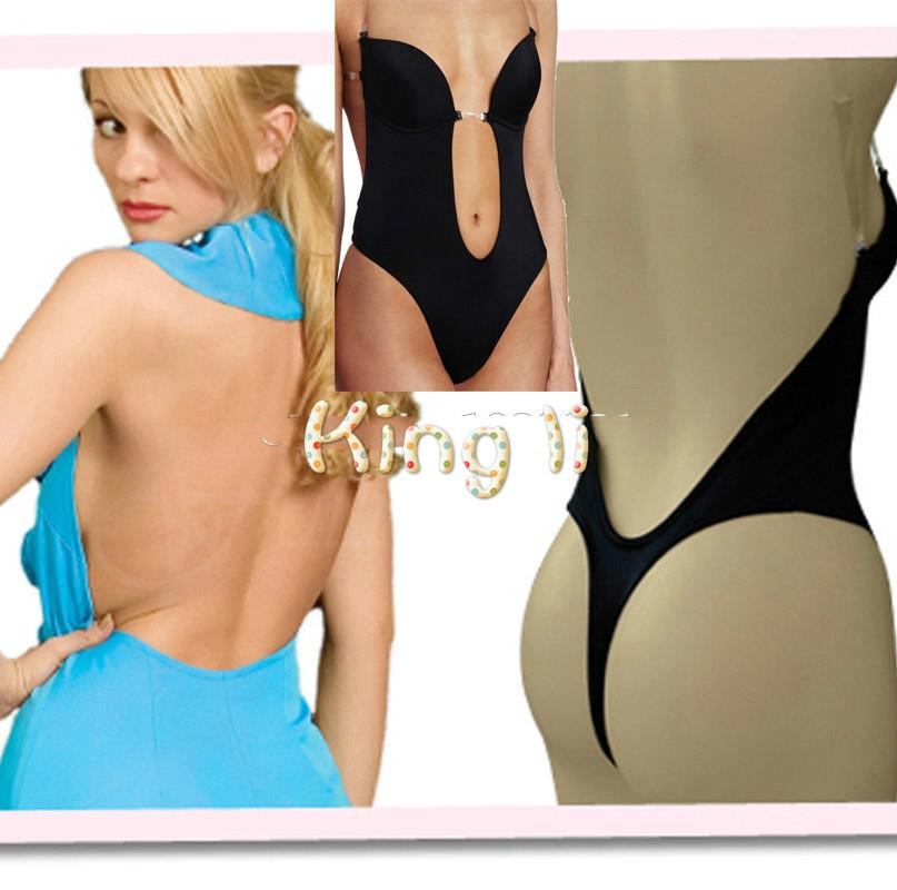 2018 Women Invisible Under Dress Shapewear Thong Bottom Backless ...