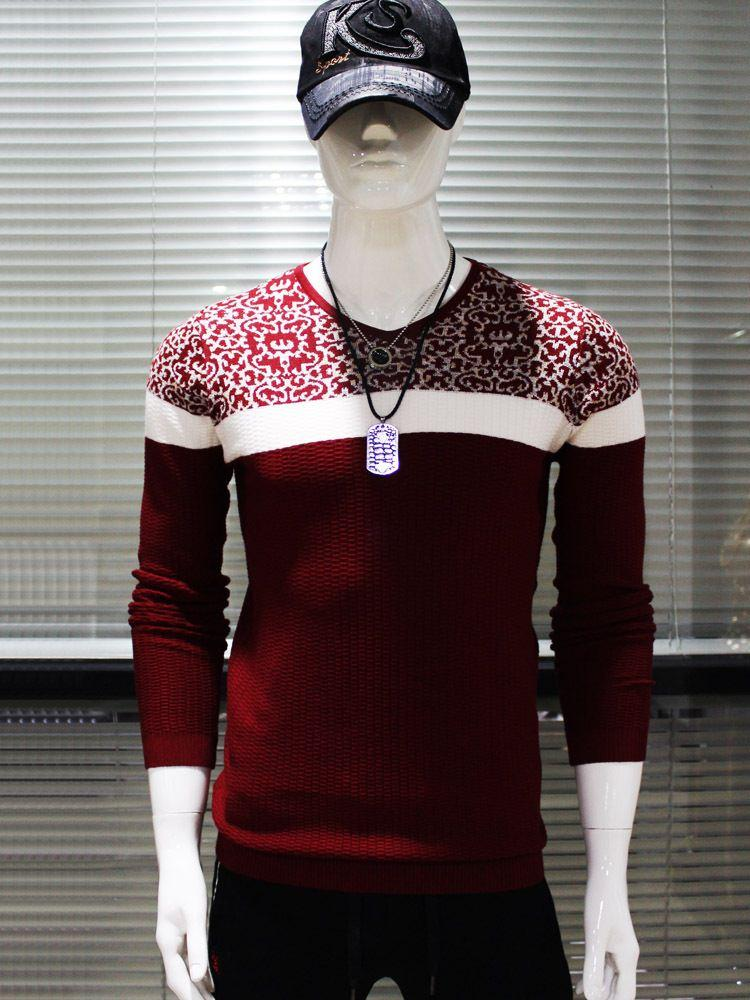 2018 Fg1509 Europe Style Pullover Sweater Men 2015 Spring Fashion ...