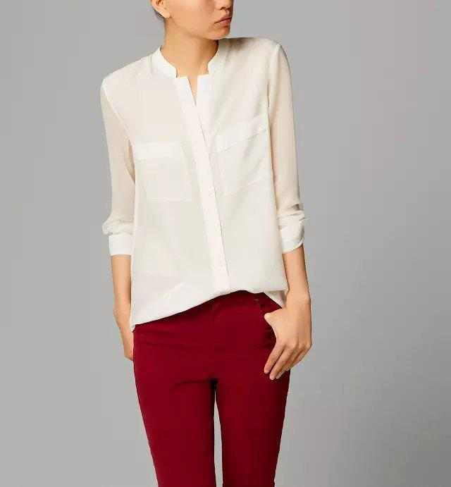 2017 Long Sleeve Shirt Womens White Blouse 2015 Casual V Neck ...