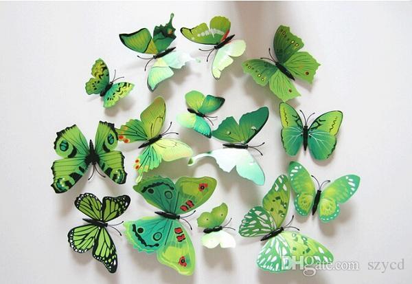 3D Art Butterfly Decal Wall Sticker Home Decor Room Decoration
