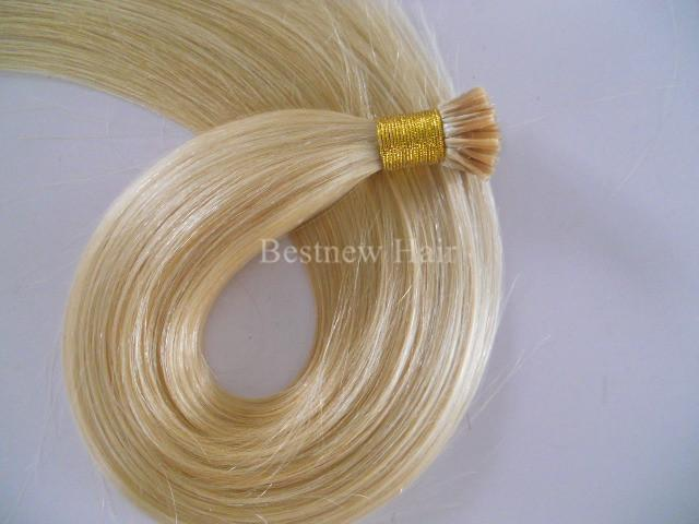 """LUMMY Keratin Stick I Tip Human Hair Extensions 100g 1g/s #613 16""""-24"""" Indian Remy Sitck Tip Hair Extensions"""