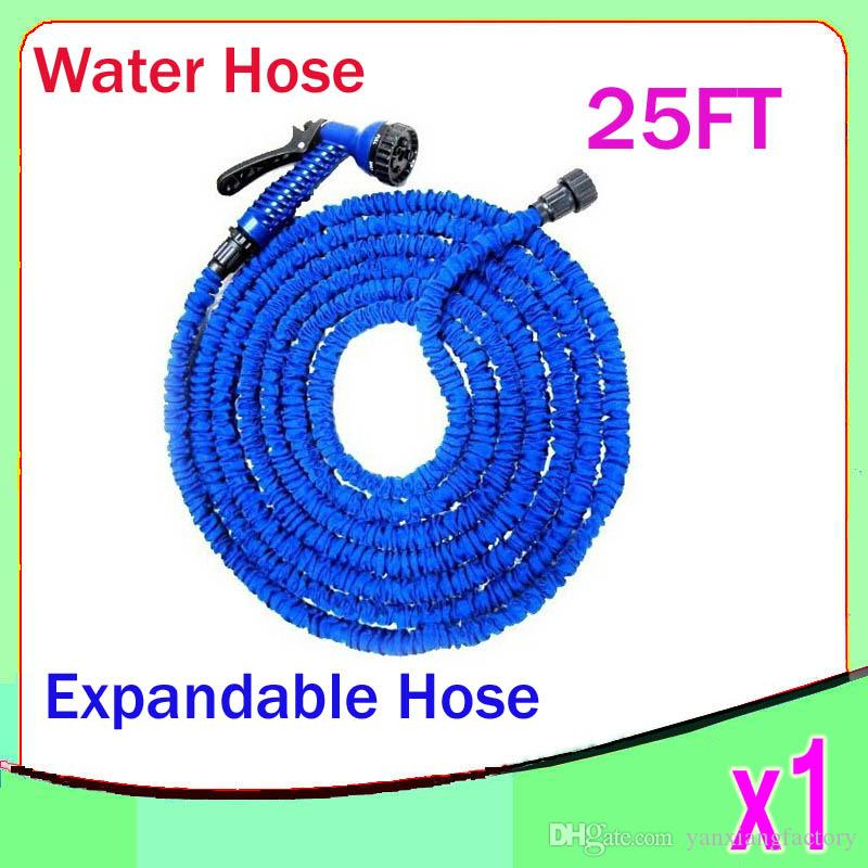 High Quality NEW Retractable Garden Hose Water Pipe Magic Hose Expandable and Flexible Hose 25FT 1pcs ZY-SG-04