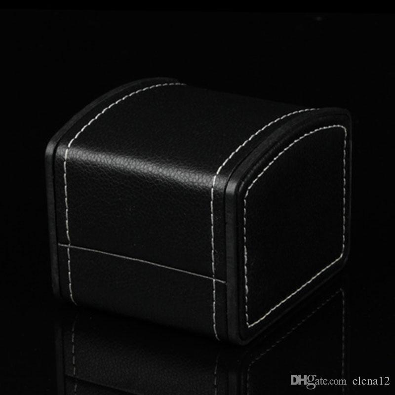 Caixas de relógio de luxo Caixa de relógio de couro PU Mens Para caixa de relógios de luxo Caixa de relógios de homem para mulher