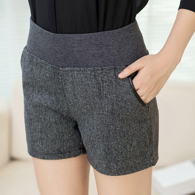 2017 Plus Size Women Shorts 2015 Autumn Fashion Elastic High Waist ...