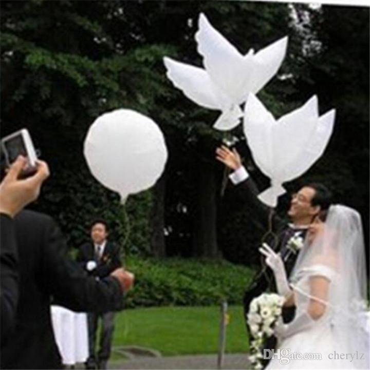Wedding Decoration White Dove Balloon Lovely Big Peace Doves Shape Balloons  Valentine Day Birthday Decorations High Quality K430