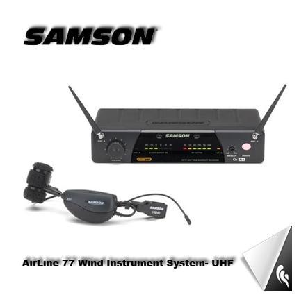 Instrumentos de viento SAMSON AH1 / HM40 / CR77 Sistema de micrófono inalámbrico para saxofón con clip para mostrar el rendimiento Envío de DHL / EMS