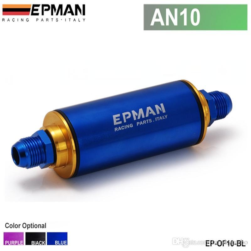 Filtro EPMAN combustível com filtro de aço AN10 preto, roxo, azul com 100 Micron elemento de aço SS Universal High Pressure EP-of10