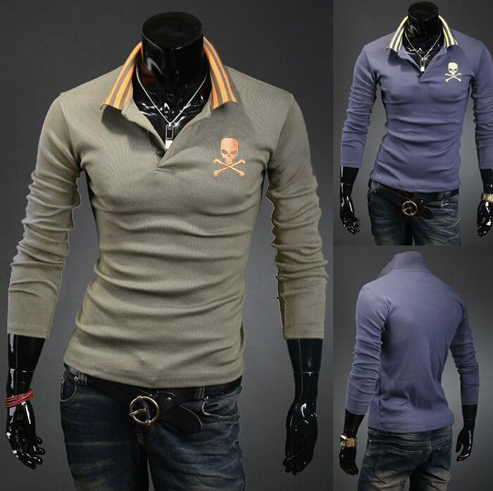 2018 New Polo Shirts For Men 2015 Autumn Casual Slim Fit Pullover ...